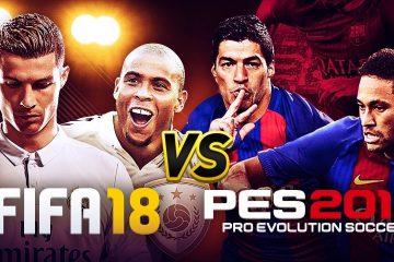PES 2018 et Fifa 2018 : Comparatif du meilleur jeu de foot